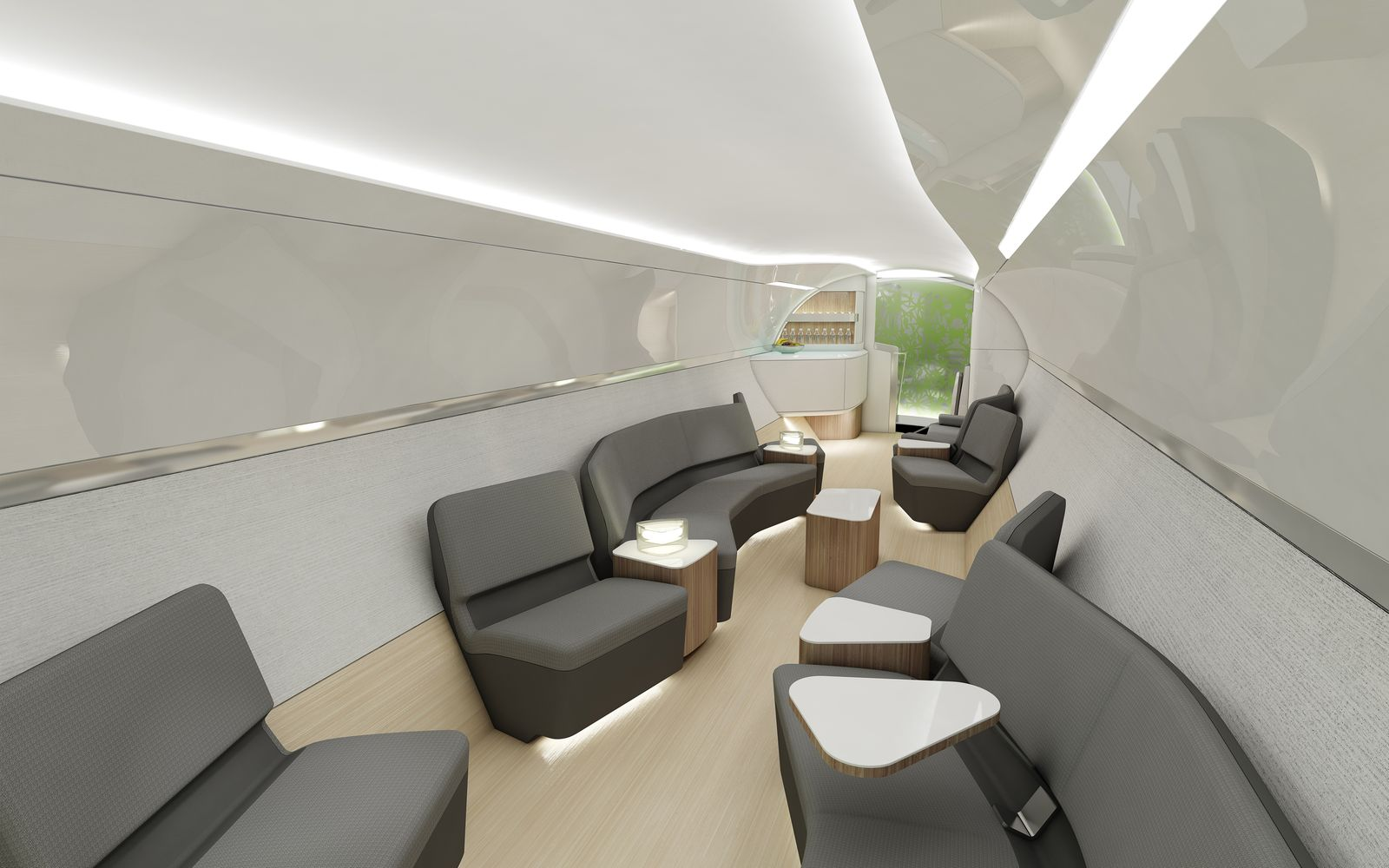 Flying design boeing 747 8 intercontinental by teague for Boeing 747 8 interieur